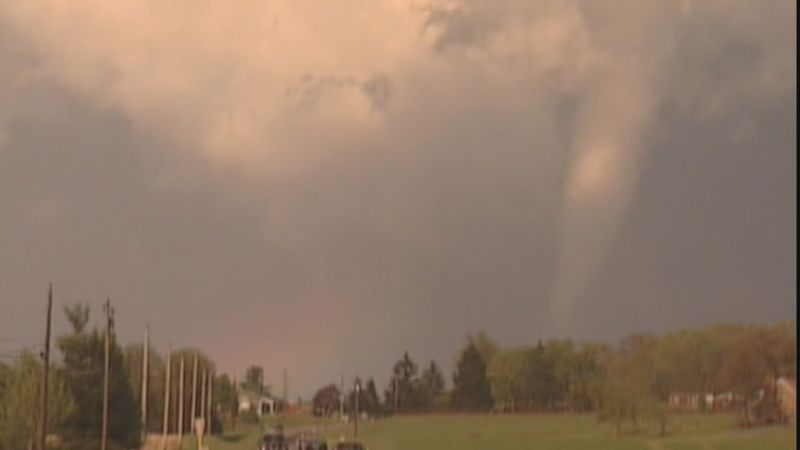 This tornado was the start of a more dangerous situation farther east. It's the only footage we...