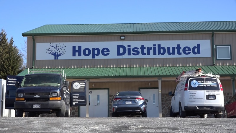 Hope Distributed is located behind the Church of the Nazarene in Rockingham County.