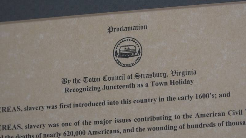 The resolution is on display in town hall.
