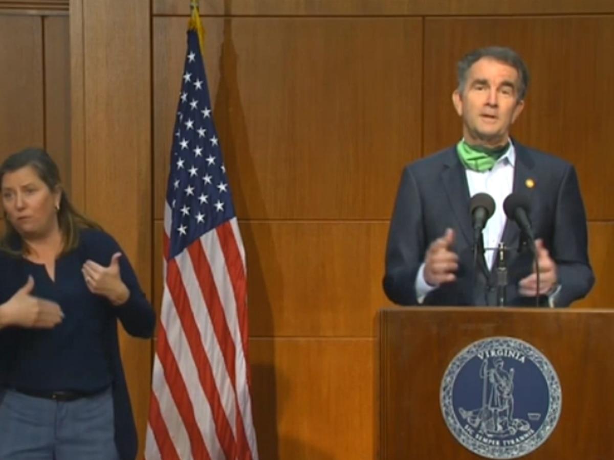 Gov Northam Announces Reopening Of Virginia Beach New Taskforce On School Plans