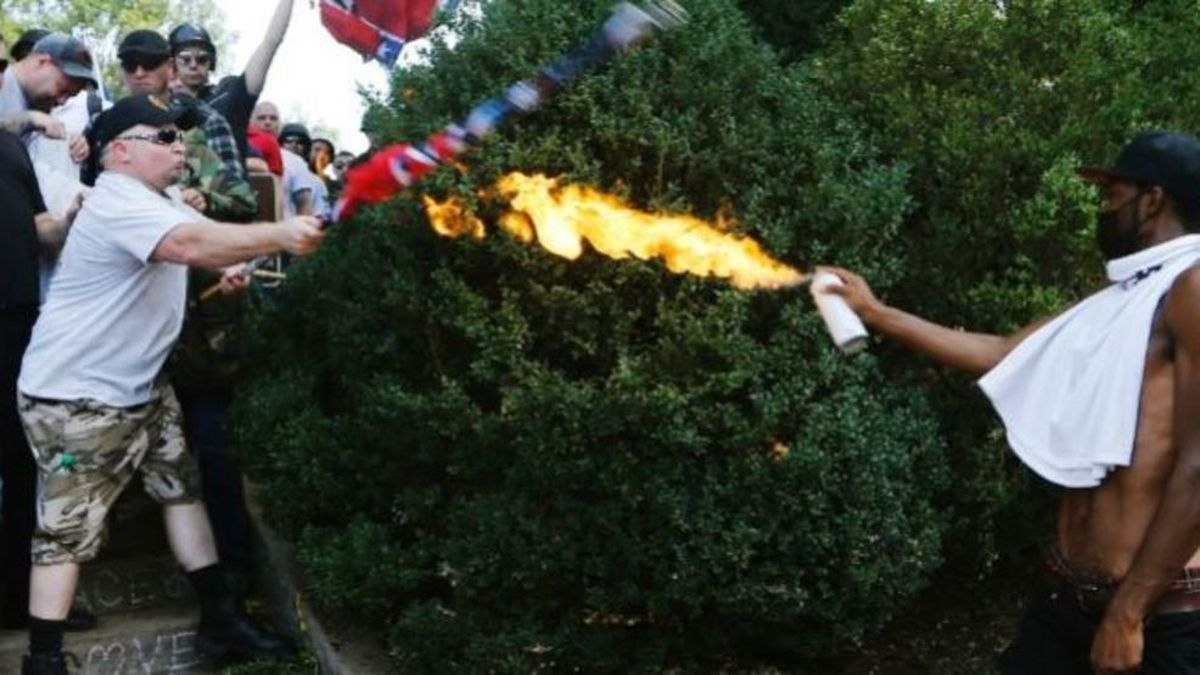 Corey Long, a counter-protester of the 'Unite the Right' rally in Charlottesville, was featured...