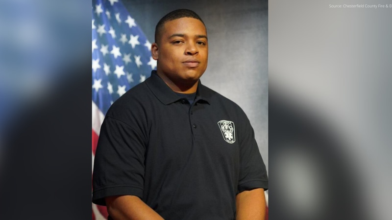 Chesterfield Fire & EMS released this photo of Firefighter Recruit Tyvaughn Eldridge, a...