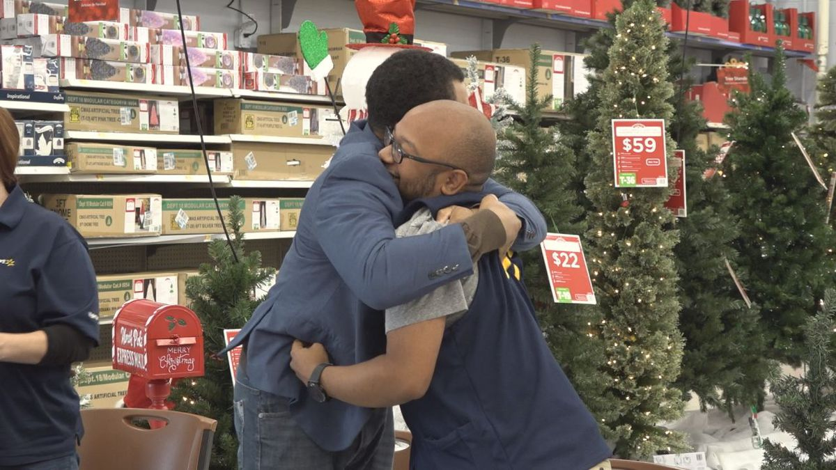 Audre King and Derek McNeal celebrate after learning they received a $10,000 grant from Wal-Mart. | Credit: WHSV