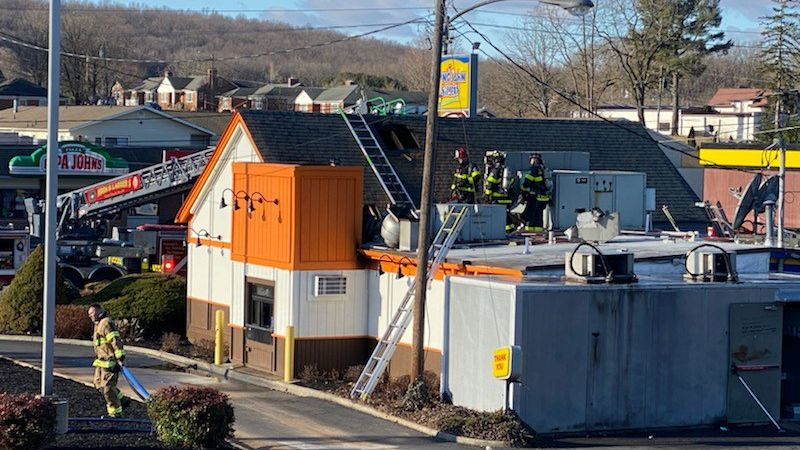 Fire crews were called to a Long John Silver's in Staunton on Thursday morning.