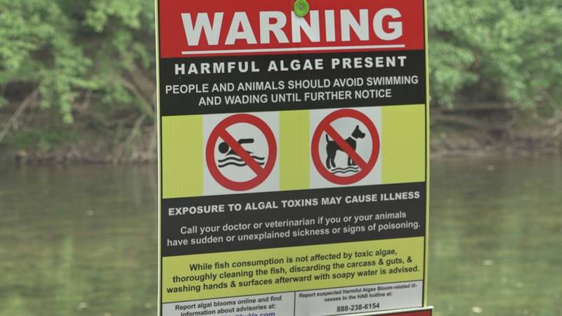 Signs that were put up this summer on parts of the North Fork of the Shenandoah River.