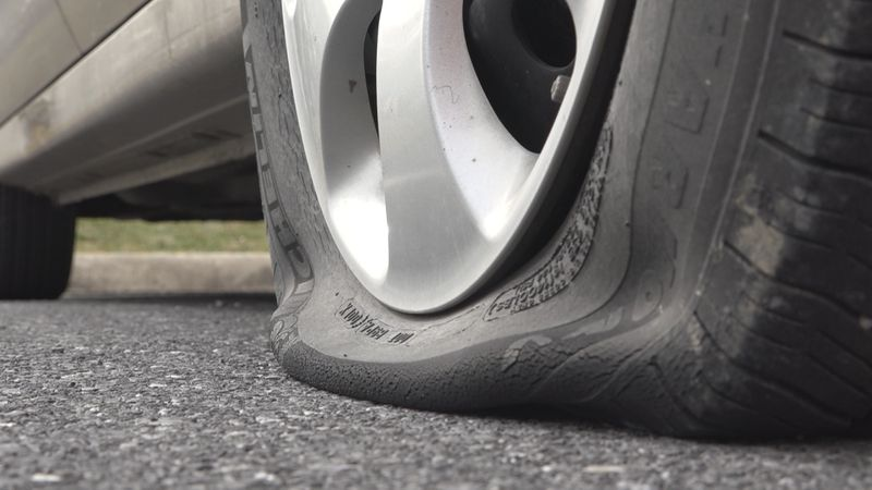 Roberts said other vehicles on nearby streets also had their tires slashed.