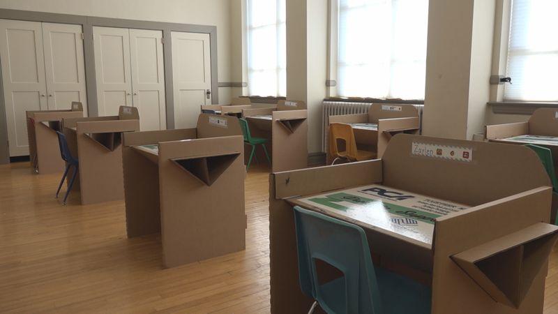 New desks at Boys & Girls Clubs of Harrisonburg and Rockingham County
