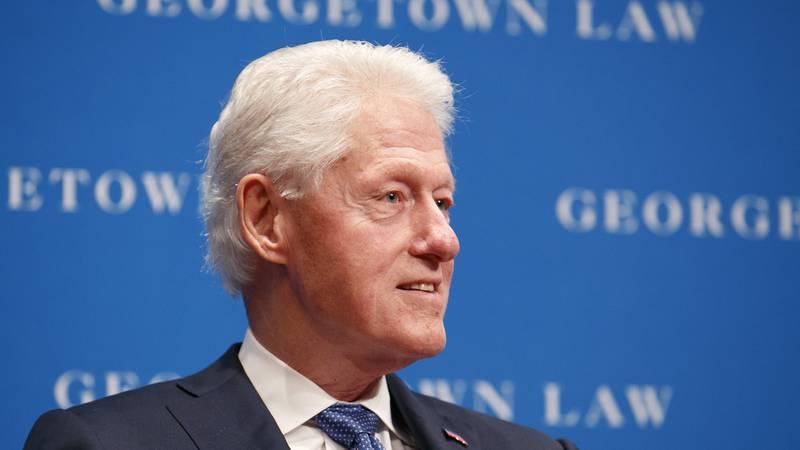 Former President Bill Clinton speaks, Wednesday, Oct. 30, 2019, at Georgetown Law's second...