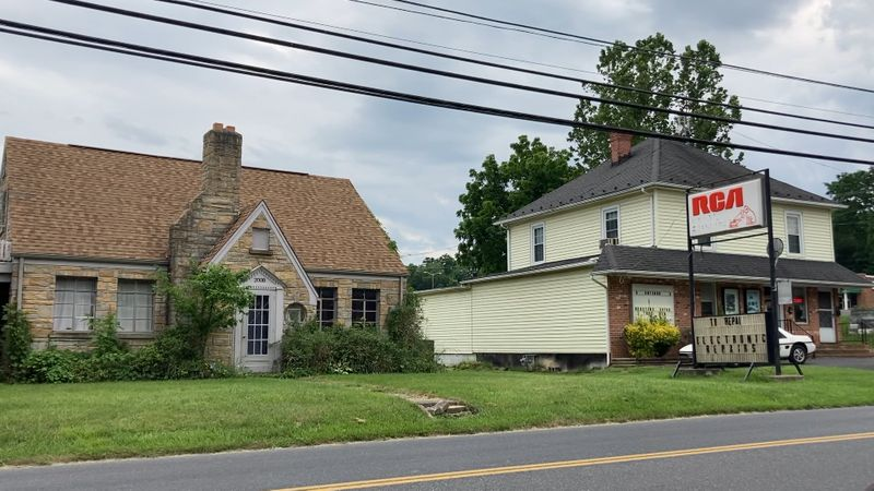 A pair of buildings in the Plunkettsville neighborhood on Staunton's West End.