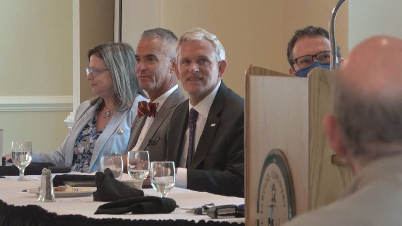 Presidents from EMJ, JMU, BWC, and BRCC spoke on mitigation strategies for this fall semester.