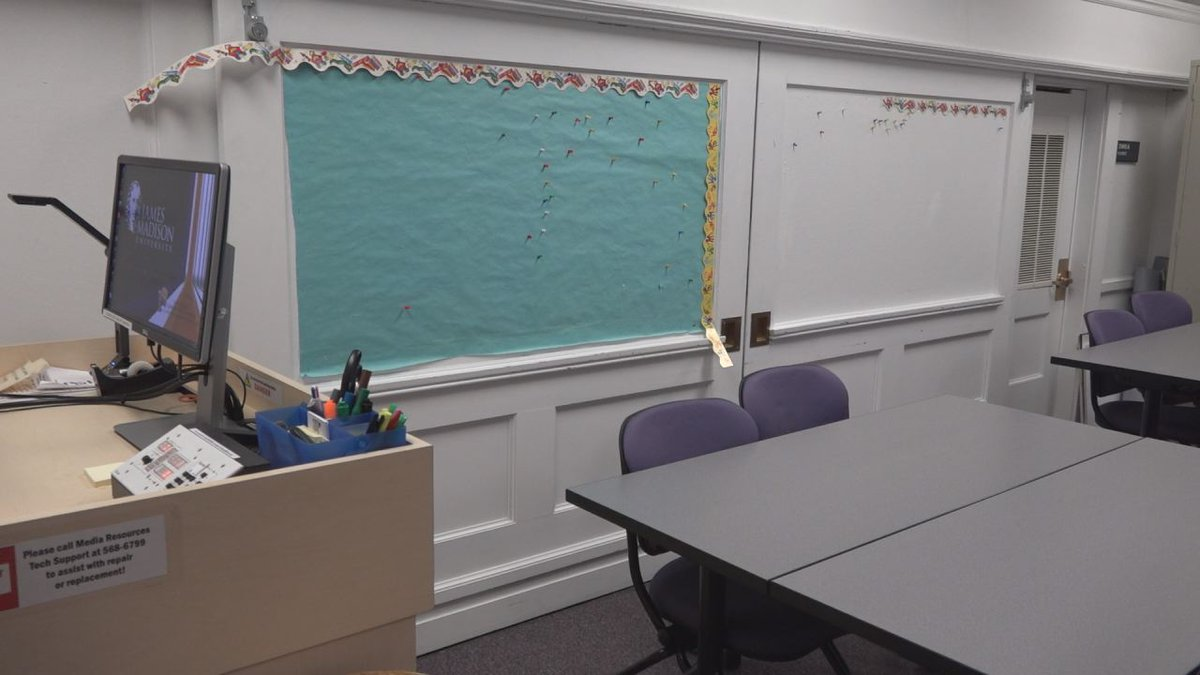Classroom in JMU's School of Education. JMU is one of 7 public schools with newly approved...