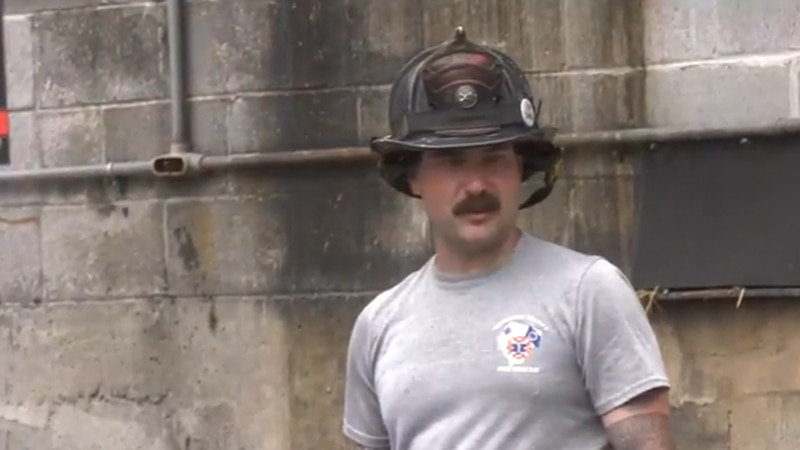 Sean Ryan, a 37-year-old Albemarle County firefighter, is back on the job after beating stage 3...
