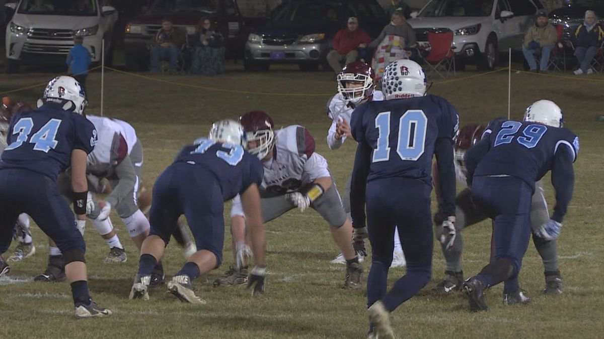 Pendleton County is eliminated from the playoffs. They lose to Wheeling Central Catholic, 27-7.