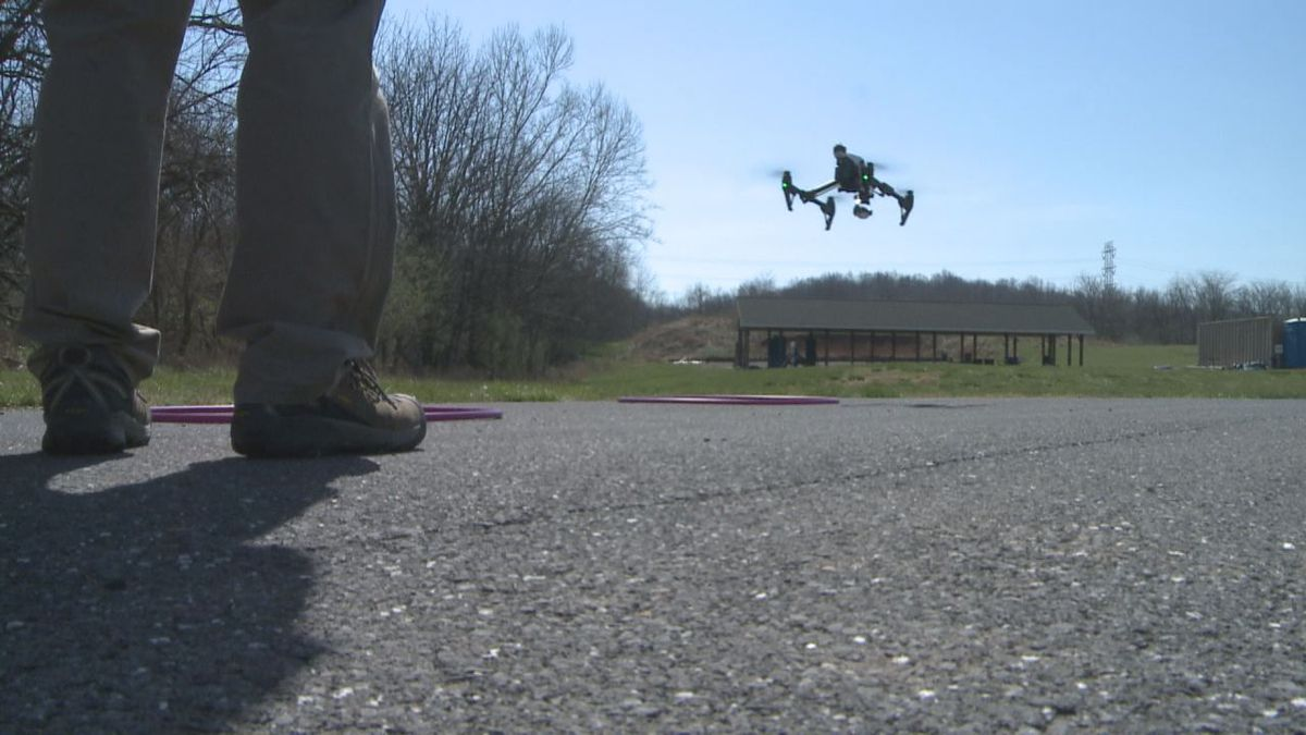 Helmuth said about 20 people are trained to fly the drones.