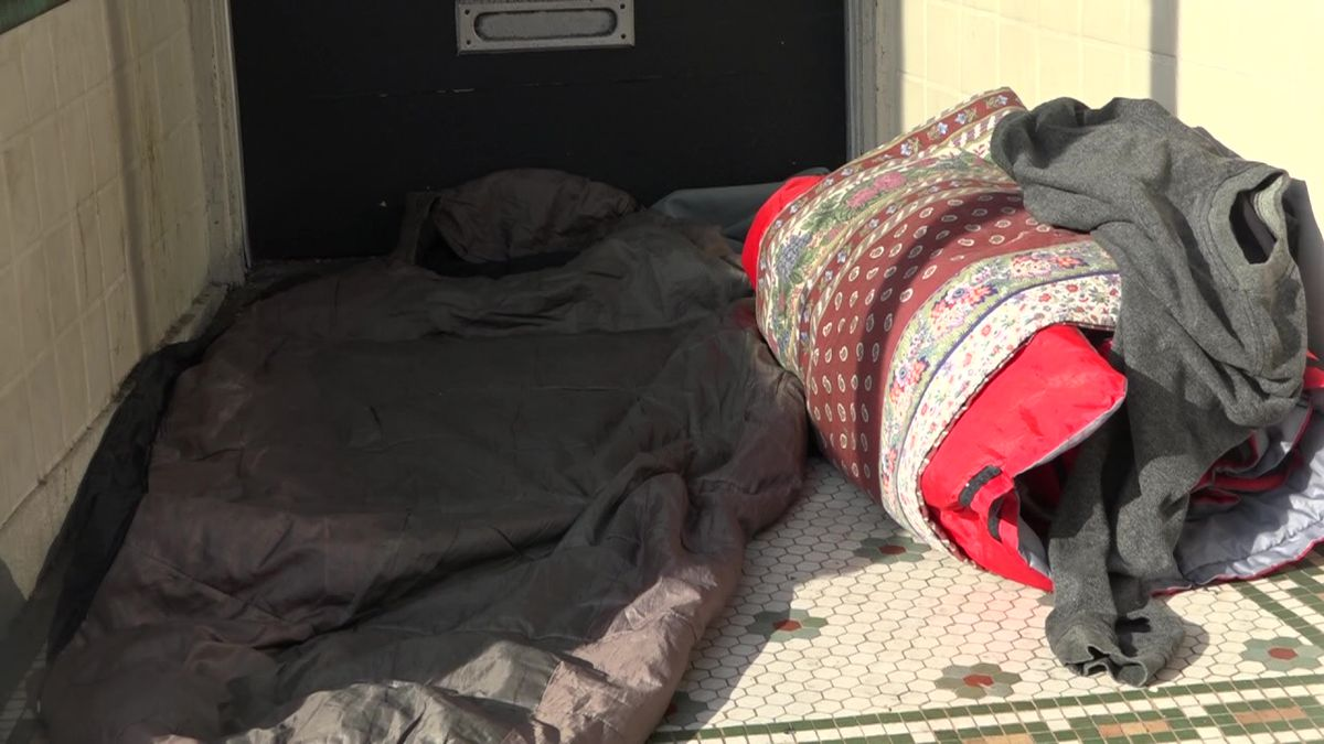 A homeless person's sleeping arrangement in Harrisonburg. This is the situation some may find themselves in if a homeless shelter reaches maximum capacity.